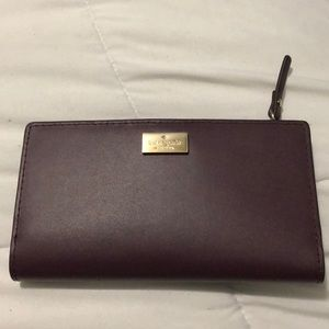 Smoked Purple Kate Spade medium bifold wallet